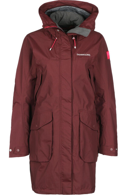 DIDRIKSONS Thelma Parka Naiset, wine red
